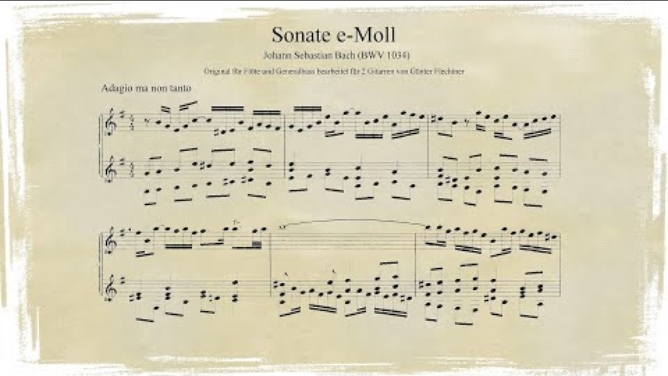 J. S. Bach: Flötensonate